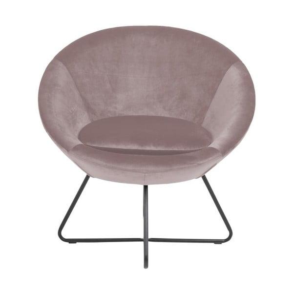 Różowy fotel Actona Center