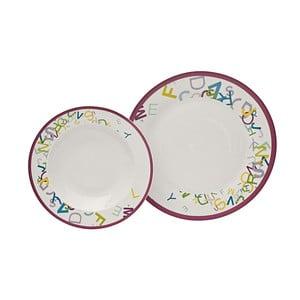 Porcelánová sada 12 talířů ABC
