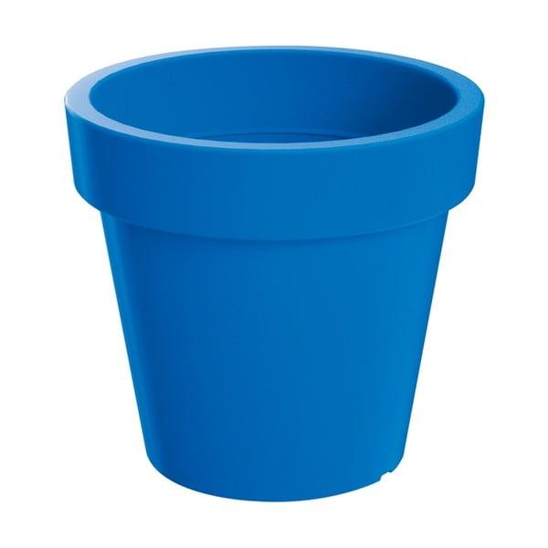 Sada květináče s miskou Colorino 13,4 cm, italská modř
