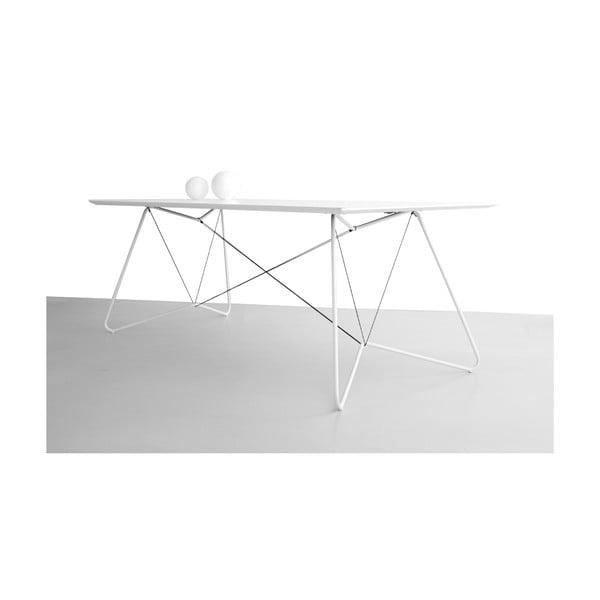 Jídelní/pracovní stůl On A String, bílý, 200x90 cm