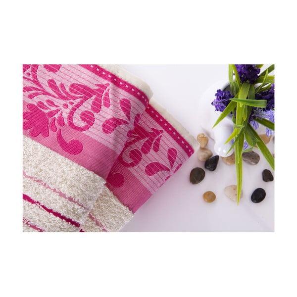 Set dvou ručníků Melodi Pink, 50x90 cm