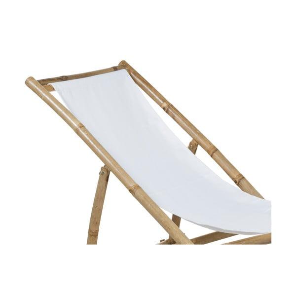 Șezlong din bambus cu șezut alb Santiago Pons Hollywood