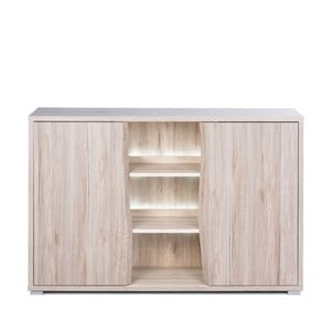 Comodă cu 2 uși, aspect de lemn de stejar și iluminare LED Intertade Casavila