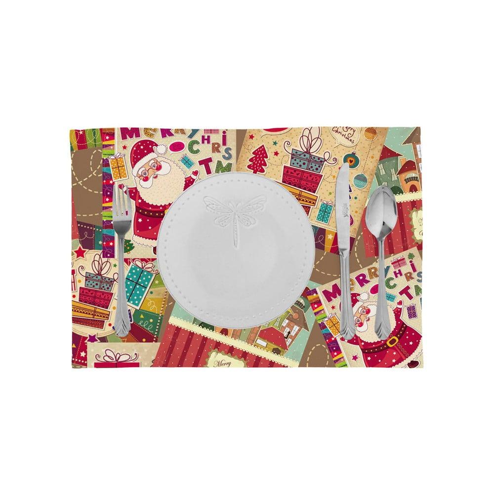 Sada 2 vánočních prostírání Apolena Comfort Collage, 33 x 45 cm