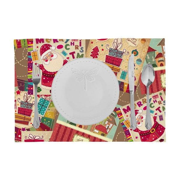 Sada 2 vianočných prestieraní Apolena Comfort Collage, 33×45 cm