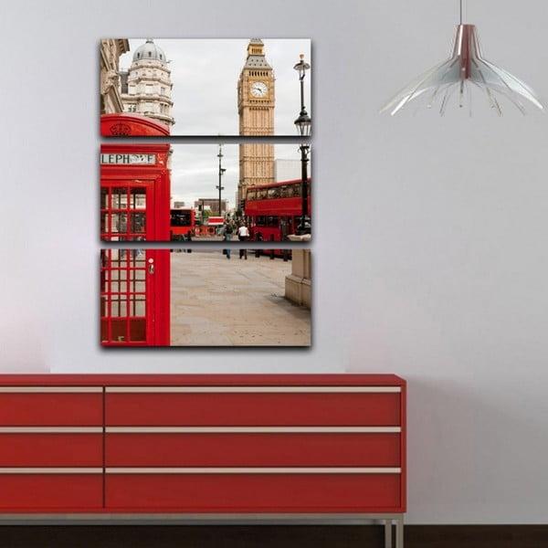 3dílný obraz London calling