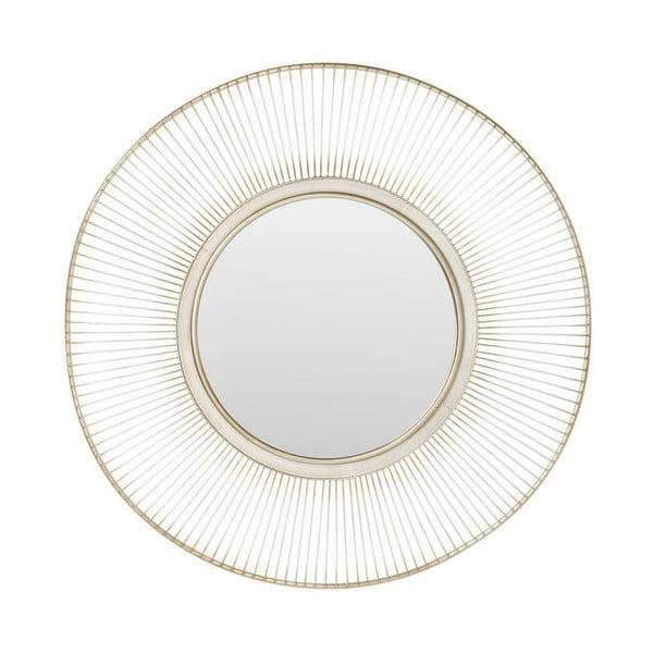 Oglindă cu ramă argintie Kare Design Storm Silver, ⌀ 93 cm