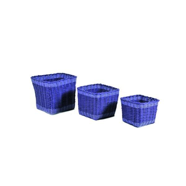 Sada tří modrých košíků