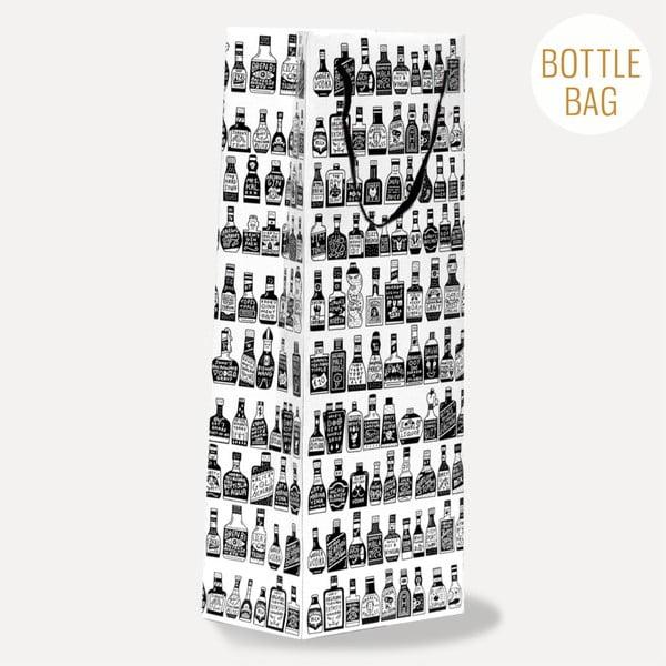 Ozdobna torebka na prezent U Studio Design Bottles, 13,5x36,5 cm