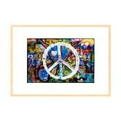Vole mír, autorská fotografie Borise Stojanova (přírodní olšový rám)