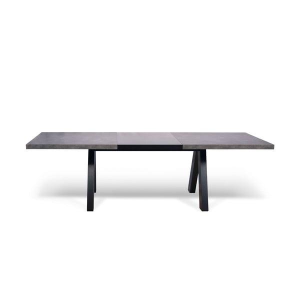 Šedý rozkládací jídelní stůl TemaHome Apex