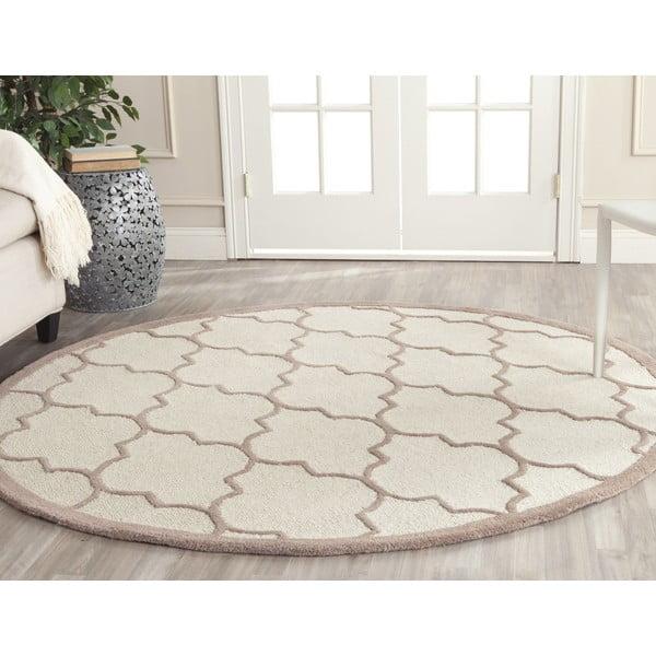 Vlněný koberec Everly Beige, 91x152 cm