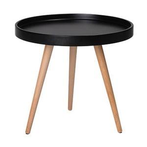 Černý konferenční stolek s nohami z bukového dřeva Furnhouse Opus, Ø50cm