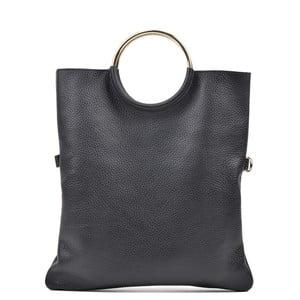 Černá kožená kabelka Luisa Vannini Pergon Cross