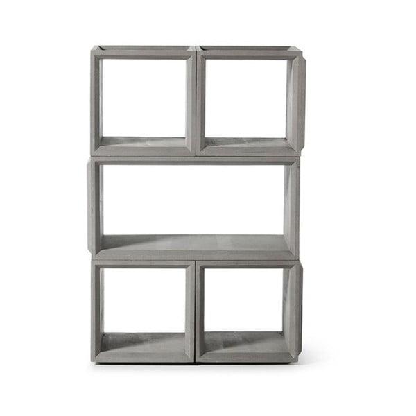 Betonová variabilní 5dílná knihovna Lyon Béton Plus Combo