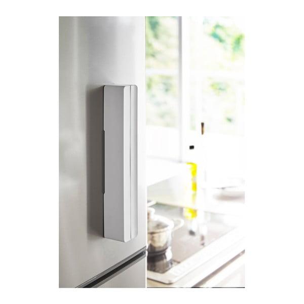 Suport magnetic pentru folie de bucătărie YAMAZAKI Tower, alb