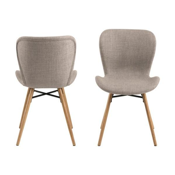 Sada 2 béžových jídelních židlí Actona Batilda