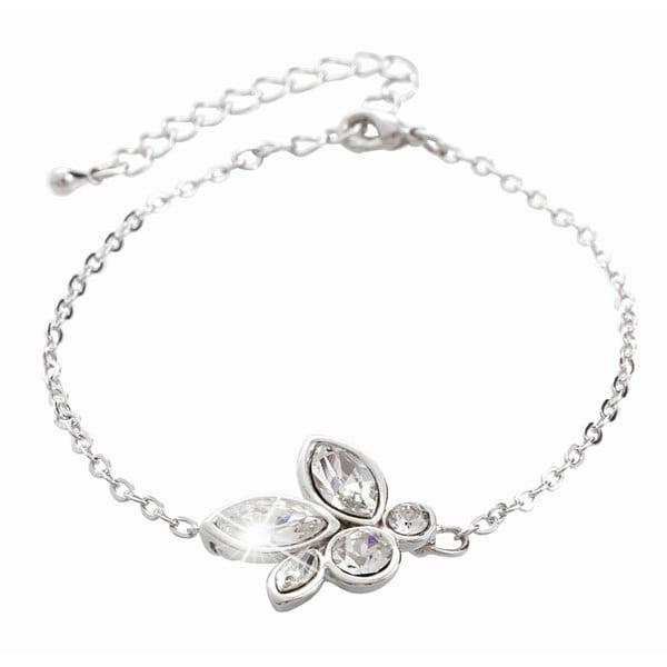 Náramek ve stříbrné barvě s krystaly Swarovski® Yasmine Jannicke