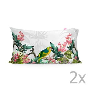 Sada 2 bavlněných povlaků na polštář Happy Friday Tropic printed,50x80cm