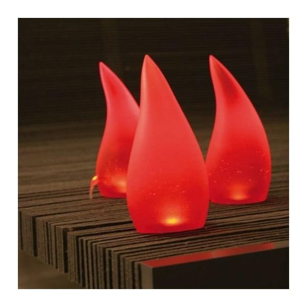 Stolní lampa Fiammella, červená