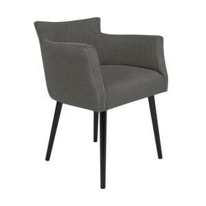 Světle šedá židle s područkami Windsor & Co Sofas Gemini