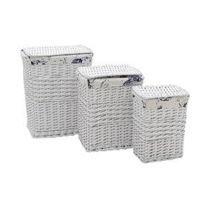 Sada 3 prádelných košů InArt Melissa