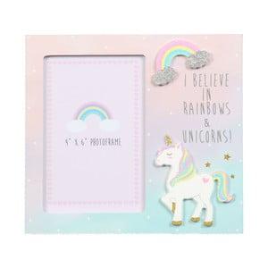 Fotorámeček Just 4 Kids Unicorn Magic I Believe In Rainbows