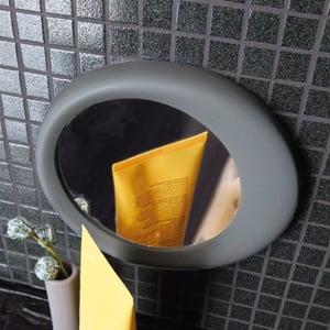Samodržící přibližovací kosmetické zrcadlo Eclisse,  šedé shadow