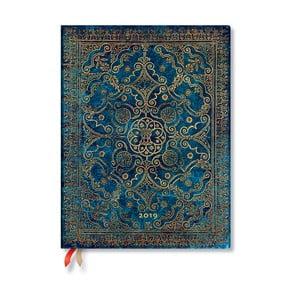 Diář na rok 2019 Paperblanks Azure, 18 x 23 cm