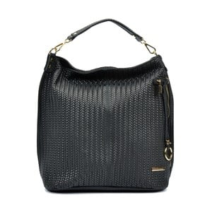 Černá kožená kabelka Renata Corsi Hanterro