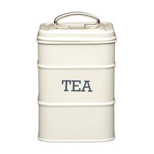 Krémová plechová dóza na čaj Kitchen Craft Tea