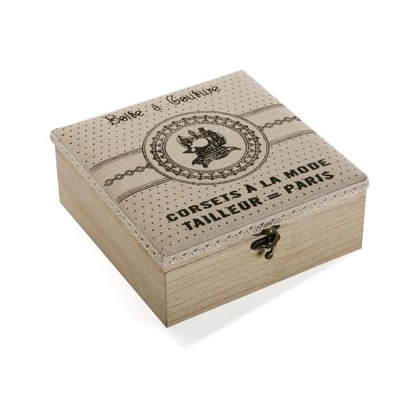 Dřevěný box na šicí potřeby Versa Paris