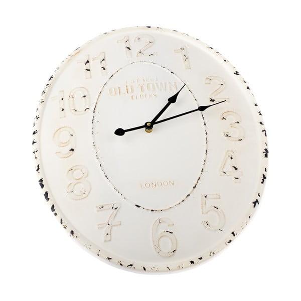 Ceas metalic pentru perete Dakls, alb