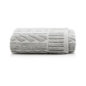 Šedý bavlněný ručník Maison Carezza Amelia, 50 x 90 cm