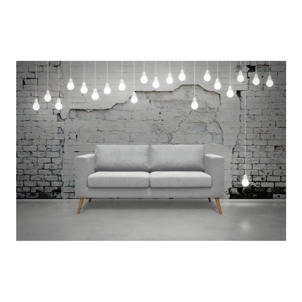Světle šedá trojmístná pohovka Kooko Home Disco