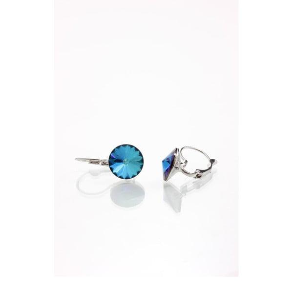 Modré náušnice se Swarovski krystaly Yasmine Longie
