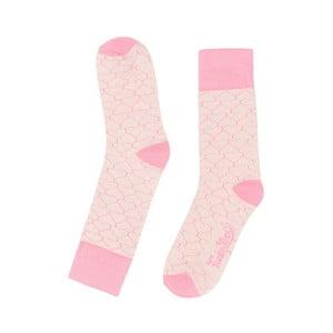 Růžové ponožky Funky Steps Geometric, vel. 35-39