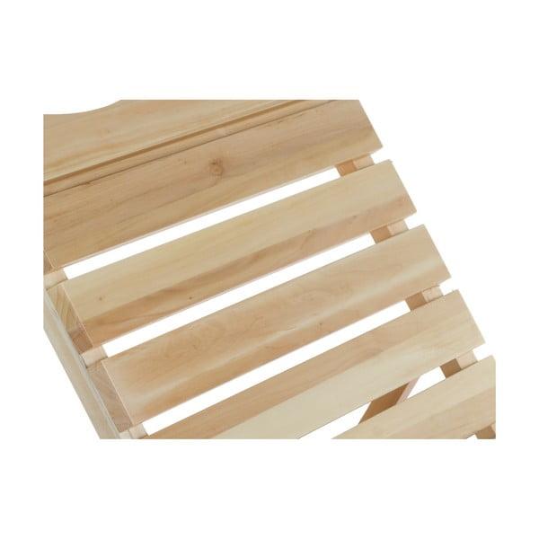 Șezlong ajustabil din lemn de plop Santiago Pons