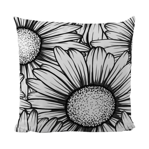 Polštářek Black Shake Sun Flower, 50x50 cm