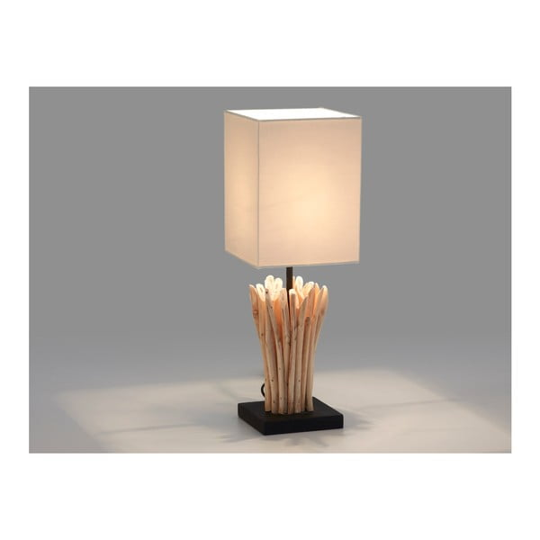 Bílá stolní lampa La Forma Poob