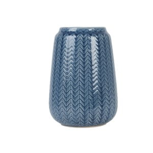 Střední modrá váza Present Time Knitted