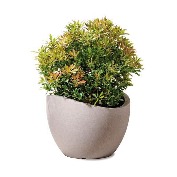 Venkovní květináč Globe 30 cm, hnědý