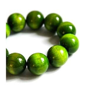 Zelený dřevěný náramek Ko–ra–le Bubbles