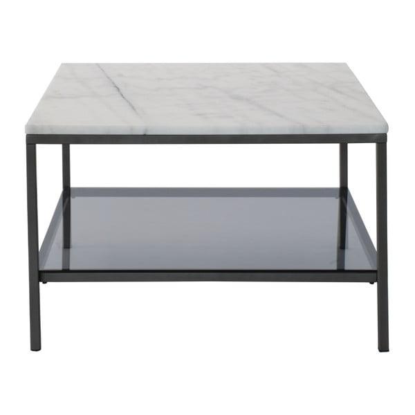 Mramorový konferenční stolek s šedou konstrukcí RGE Ascot, šířka75cm