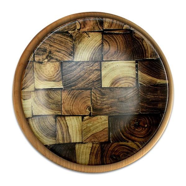 Talerz ceramiczny Mezzo Structure, ⌀ 25 cm