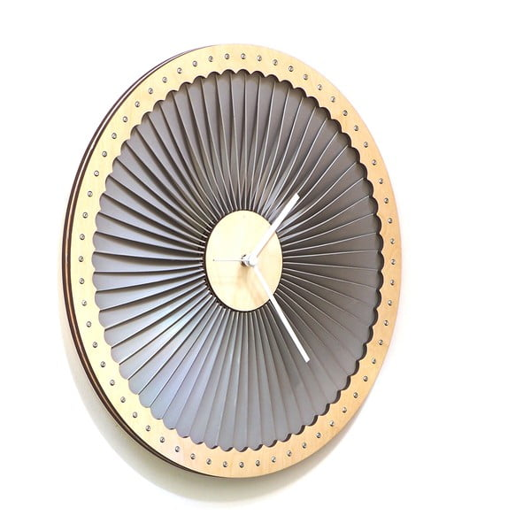 Dřevěné hodiny Turbine, 41 cm