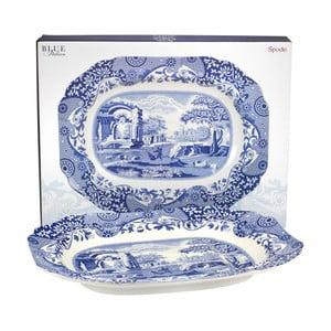 Bílomodrý porcelánový servírovací tác Spode Blue Italian Villa