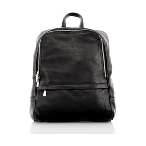 Černý kožený batoh Glorious Black Betty