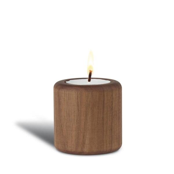 Ořechový svícen Baldur, 6 cm