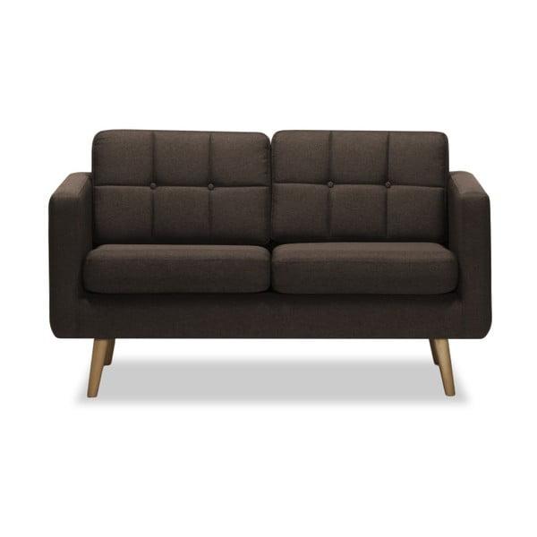 Canapea cu 2 locuri Vivonita Magnus, maro închis